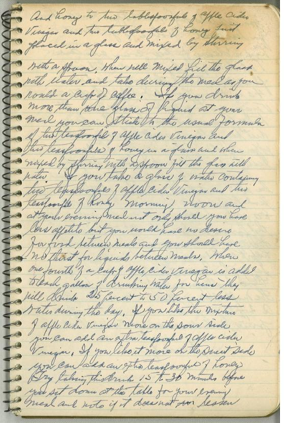 Dr. Jarvis' Notebook-Page 1