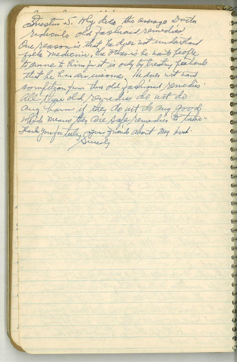 Dr. Jarvis' Notebook-Page 6